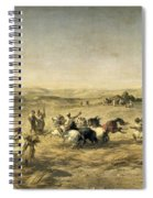 Threshing Wheat In Algeria Spiral Notebook