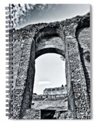 Through The Arch In A Sicily Ruin Spiral Notebook