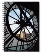 Through The Clock Spiral Notebook