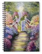 Through The Garden Gate Spiral Notebook