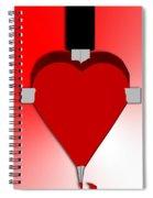 Through The Heart Spiral Notebook