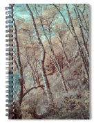 Through The Trees In Infrared Spiral Notebook