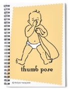 Thumb Pose Spiral Notebook
