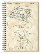 Thumb Wrestling Game Patent 1991 - Vintage Spiral Notebook