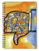 Thumbs Down Spiral Notebook