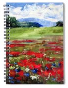 Thunder Clouds Over Bavarian Meadow Spiral Notebook