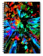 Thunder Through A Rainbow Spiral Notebook