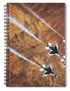 Thunderbirds In Diamond Roll Formation Spiral Notebook