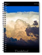 Thunderhead Cloud Color Poster Print Spiral Notebook