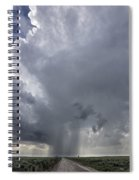 Thunderstorm And Road Spiral Notebook