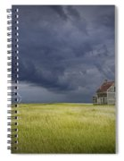 Thunderstorm On The Prairie Spiral Notebook