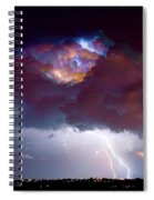 Lightning Thunderstorm Over Dacono Spiral Notebook