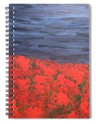 Thunderstorm Over The Poppy Field Spiral Notebook