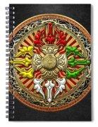 Tibetan Double Dorje Mandala Spiral Notebook