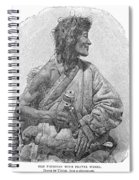Tibetan With Prayer Wheel Spiral Notebook