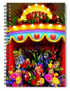 Ticket Booth Of Flowers Spiral Notebook
