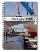 Tickled Pink In Mylor Cornwall Spiral Notebook