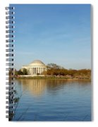 Tidal Basin And Jefferson Memorial Spiral Notebook