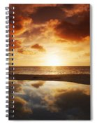 Tidepool At Sunset Spiral Notebook