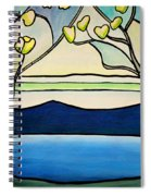 Tiffany And Blossoms Stained Glass Spiral Notebook