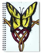 Tiger-butterfly Celtic Double Knot Spiral Notebook