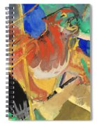 Tiger In The Jungle By Franz Marc Red And Yellow Tiger On The Prowl Spiral Notebook