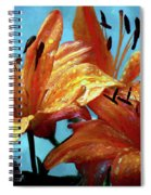 Tiger Lilies After The Rain - Painted Spiral Notebook