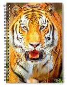 Tiger On The Hunt Spiral Notebook