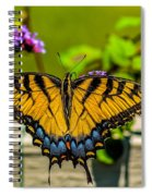 Tiger Swallowtail Butterfly By Fence Spiral Notebook