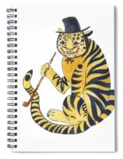 Tiger With Pipe Spiral Notebook