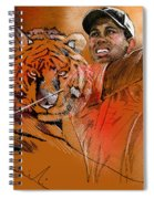 Tiger Woods Or Earn Your Stripes Spiral Notebook