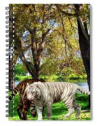 Tigers By The City Spiral Notebook