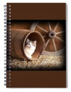 Tiki In The Old Barrel Spiral Notebook