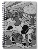 Tile Cow Spiral Notebook