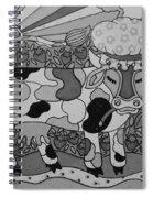 Tile Cow Spiral Notebook