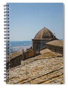 Tile Roof Tops Of Volterra Italy Spiral Notebook