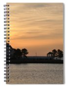 Tilghman Island Marina At Sunrise Spiral Notebook