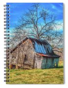 Tilted Log Cabin Spiral Notebook