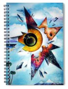 Time. Shattered Pieces Spiral Notebook