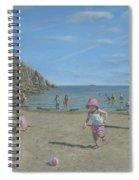 Time To Go Home - Porthgwarra Beach Cornwall Spiral Notebook