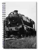 Time Travel By Steam B/w Spiral Notebook