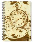 Time Worn Vintage Pocket Watch Spiral Notebook