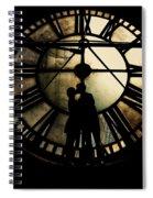 Timeless Love - Golden Brown Spiral Notebook