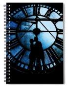Timeless Love - Midnight Blue Spiral Notebook