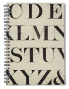Times New Roman Spiral Notebook