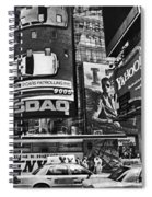 Times Square Black And White Spiral Notebook
