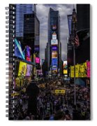 Times Square From The Steps Spiral Notebook