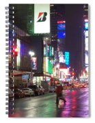 Times Square In The Rain 2 Spiral Notebook