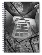 Time's Up - Black And White Spiral Notebook