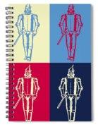 Tin Man Pop Art Poster Spiral Notebook
